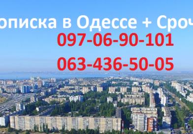 Прописка в Одессе срочно и недорого
